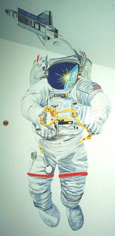 astronaut mural - photo #16